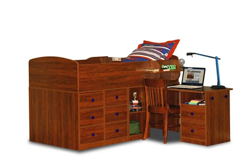 captains bed berg furniture captain s bed with pull out desk twin by oj