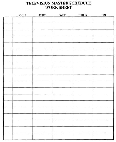 Schedule Sheet Template by Printable Schedule Sheets Calendar Template 2016
