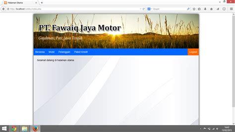 membuat web dengan php maker membuat halaman awal web dengan php membuat crud sederhana