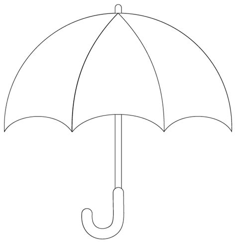umbrella pattern to color umbrella template printable cliparts co