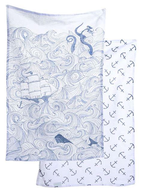 danica studio odyssey shower curtain deep sea odyssey dish towel set by danica studio kitchen
