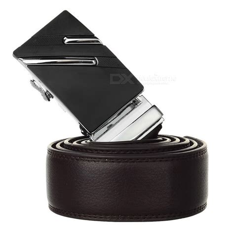 Lines Silver Leather מוצר s leather belt w parallel lines pattern buckle