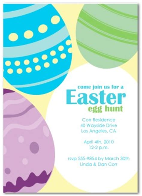 printable easter hunt invitation template