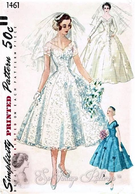 pattern review simplicity 1461 vintage 1950s simplicity 1461 flattering princess style