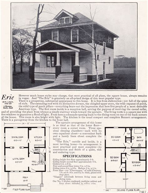 1900 American Foursquare House Plans 1913 American Foursquare House Plans