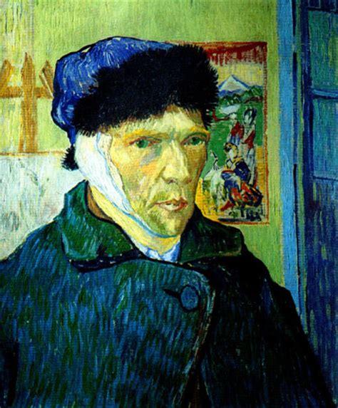 tableau gogh autoportrait a l oreille bande