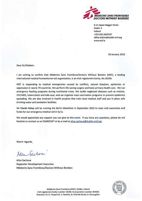 Motivation Letter Medecins Sans Frontieres Everything S Nothing Marathon Sans Fronti 232 Res