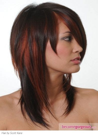 colors snd frost hair styles stylish brunette hair with red highlights beauty tips