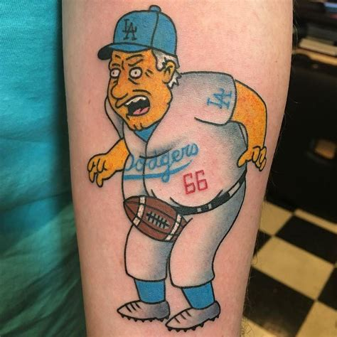 brooklyn tattoos designs lasorda simpsons by rukus tattoo at black