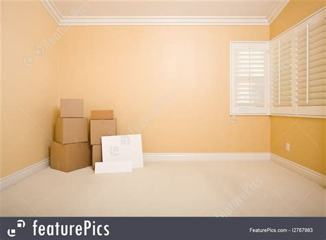 room movers interior architecture moving boxes and blank signs on