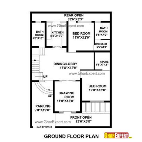 50 square feet house plan for 35 feet by 50 feet plot plot size 194