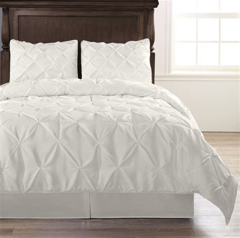 4 piece pinch pleat puckering comforter set by