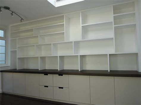 Wall To Wall Shelving Fitted Study Cabinetry Handmade By Henderson