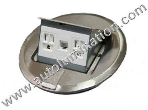 Floor And Decor Outlet Locations floor mounted pop up receptacles duplex box with rj45 ethernet