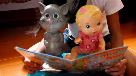 talking tom doll baby alive doll with talking tom story telling time