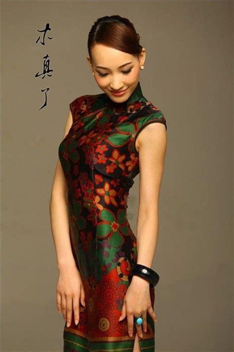 Dress Cheongsam Style magnificent style silk cheongsam dress qipao