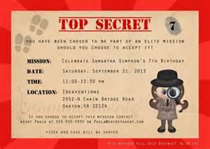 items similar to 5x7 secret agent spy detective birthday