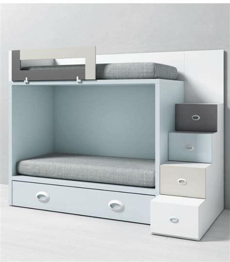 muebles literas infantiles litera infantil dado con cama nido y escalera lateral