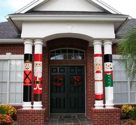 christmas column wrap snowman column wrap allenhomedesign