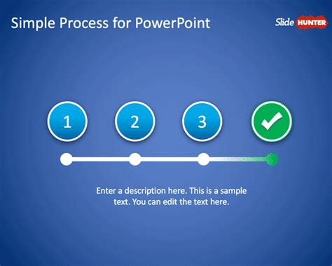 Free Simple Process Powerpoint Template Free Powerpoint Templates Slidehunter Com Simple Powerpoint Templates Free