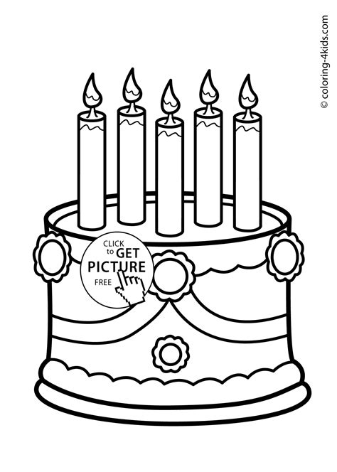 coloring page birthday cake no candles birthday cake no candles coloring page