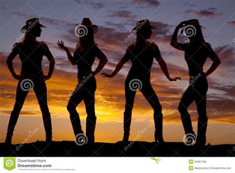 imagenes de recamaras vaqueras silueta de las vaqueras imagen de archivo imagen de jeans