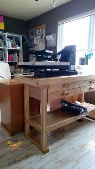 heat press table ideas this workbench is great to put a heat press on the