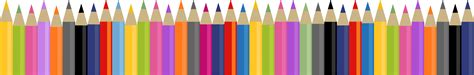 Notice Clipart School Background Pencil And In Color by Coloring Pencils Clipart 49