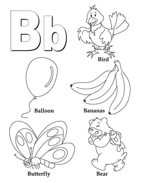 My A To Z Coloring Book Letter B Coloring Page Download B For Coloring Page