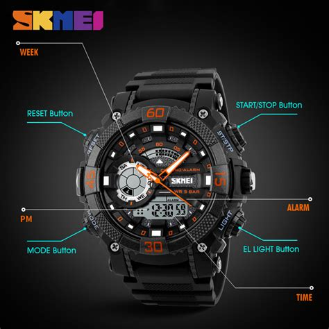 Skmei Jam Tangan Analog Pria 9149cl Black Blue New Sale skmei jam tangan analog digital pria ad1228 black blue jakartanotebook