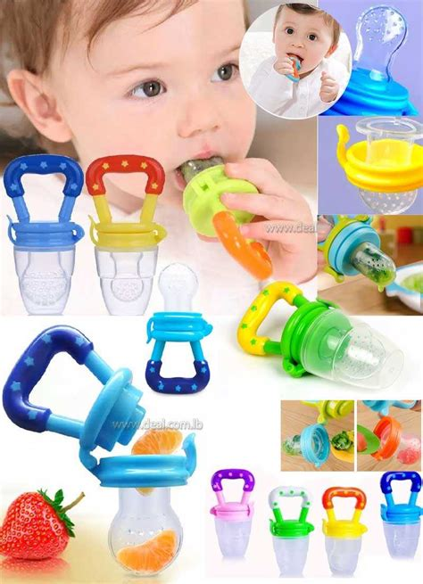 Baby Teether Fruit Pacifier Food Supplement Silicone Teether Fresh Food Teething Toy Feeder