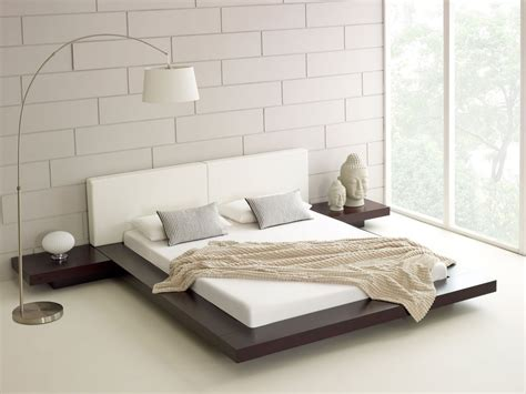 bett modern contemporary white japanese bed design with unique white