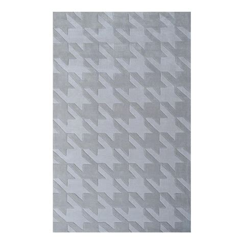 Houndstooth Area Rug Filament Design Houndstooth Gray 8 Ft X 10 Ft Indoor Area Rug 72558e The Home Depot