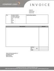 Sle Service Invoice Template by Modele Facture Gratuit Word Document