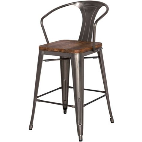high back wooden bar stools gun metal wood counter stool high back