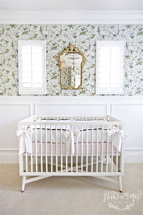 Crib Mirrors by Antique Gold Mirror Above Crib Nursery Nurseries