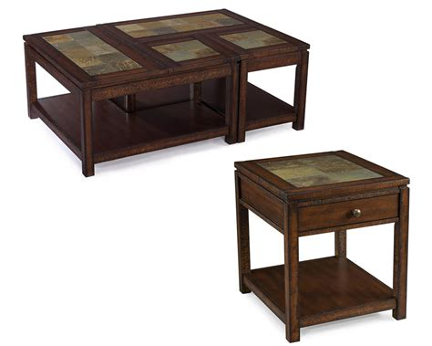 Wood Coffee Table Set Gemini By Magnussen Mg T3040set Set Coffee Table