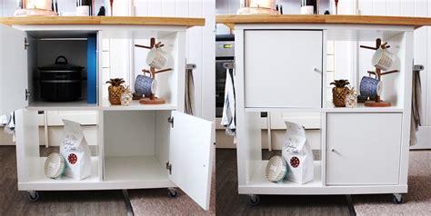rollende keuken thuis ikea kallax kitchen island hack by jen lou meredith