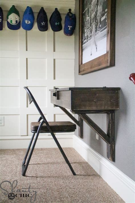 diy wall desk diy floating desk with storage shanty 2 chic