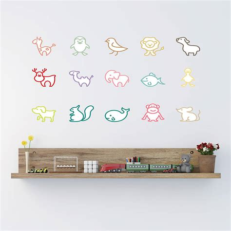 wildlife wall stickers simple animal wall stickers by parkins interiors