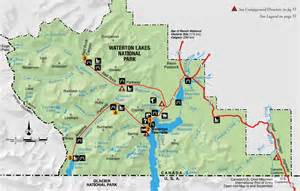 canada national park map experience waterton lakes national park experienceexperience