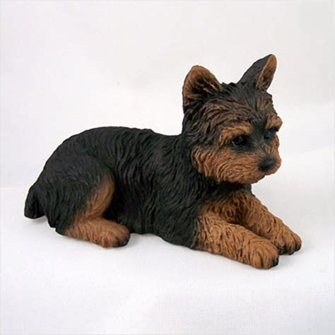 yorkie figurine yorkie painted collectible figurine puppy cut