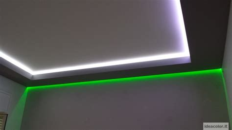 striscia led controsoffitto cartongesso e led illuminazione moderna ideacolor