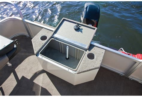 pontoon boat with livewell harris flotebote solstice