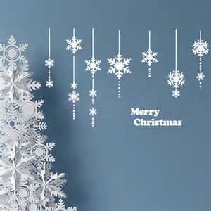 Snowflake Wall Stickers merry christmas snowflake wall decor christmas snowflakes wall sticker