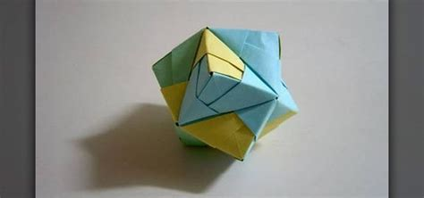 Origami Octahedron - how to make a folded paper stellated octahedron with