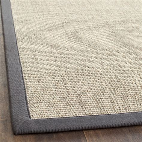 Grey Rugs by Safavieh Fiber Marble Grey Sisal Area Rugs Nf441b