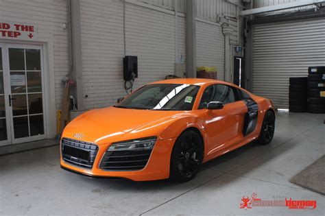 wrapped r8 audi australia r8 advertisement caign vehicle wrapped