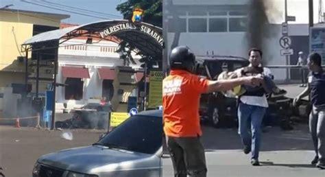 detik surabaya detik detik polisi selamatkan bocah di tkp bom polrestabes