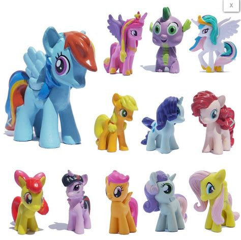 Pony Figure Set Isi 12 Pcs 1 12pcs set lot my pony friendship is magic figure ebay